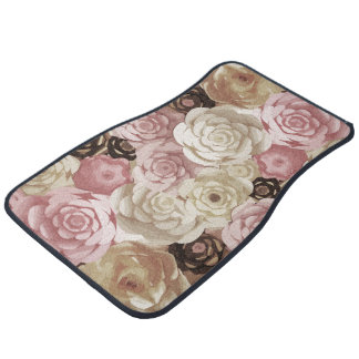 Floral Graphic Design Pattern Car Mat