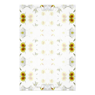 Floral Graphic Pattern Design. Personalized Stationery