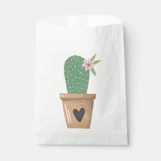 Floral Green Cactus Tan & Brown Heart Southwest Favour Bag