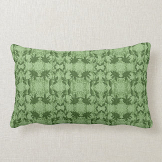 Floral Green Lace Print Throw Pillow