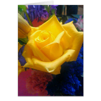 Floral Greeting, Standard white envelopes included Greeting Card