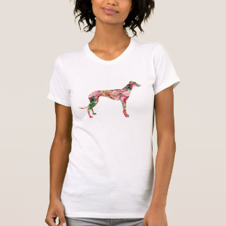 Floral Greyhound Ladies T-Shirt