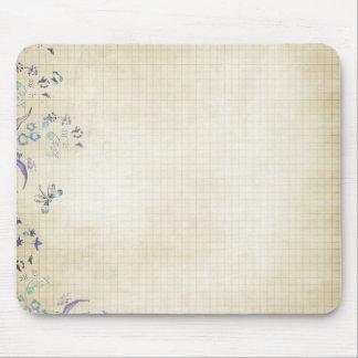 Floral Grid Paper Mouse Mat