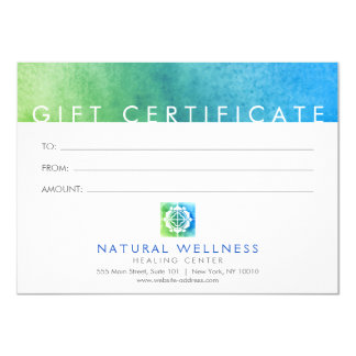 Floral Grid Wellness Logo Green/Blue Gift Card