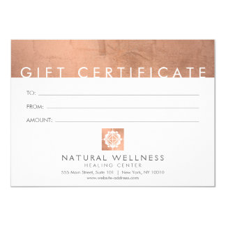 Floral Grid Wellness Logo Rose Gold Gift Card
