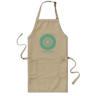 Floral Groove Apron, Turquoise