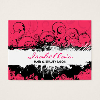 Floral Grunge Business Card