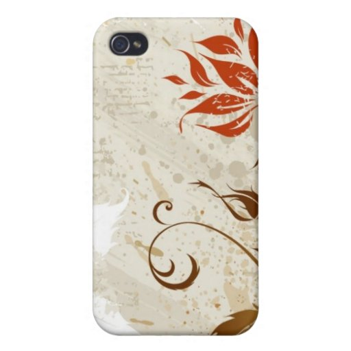 Floral Grunge Design Cover For iPhone 4