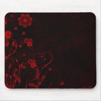 Floral - Grunge Design Mouse Pad