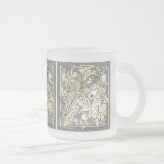 floral grunge mug