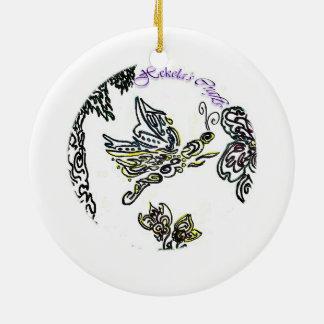 Floral Guam Ceramic Ornament