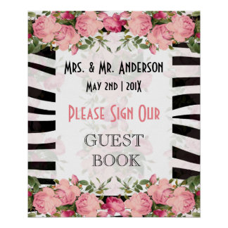 Floral  guestbook poster