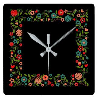 Floral Gypsy Wall Clock