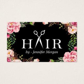 Floral Hair Stylist Logo Beauty Salon Appointment
