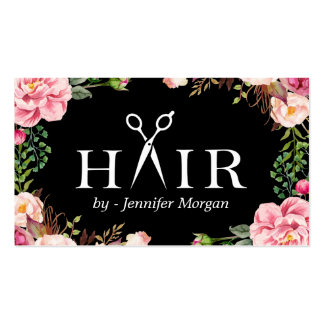 Floral Hair Stylist Logo Beauty Salon Appointment Pack Of Standard Business Cards