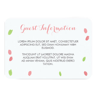 Floral Happiness Guest Information Card