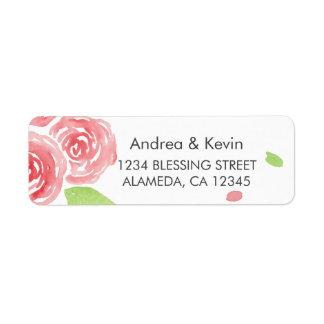 Floral Happiness Return Address Label