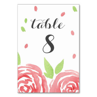 Floral Happiness Table Cards