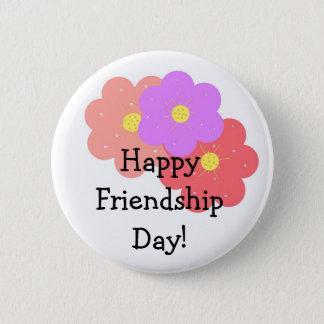 Floral Happy Friendship Day 6 Cm Round Badge