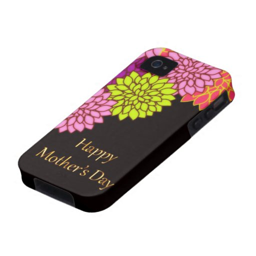 Floral Happy Mothers Day Case For The iPhone 4