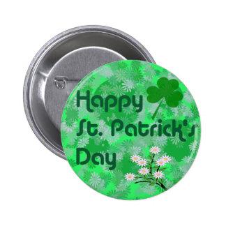 Floral Happy St. Patrick's Button