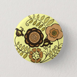 Floral Harvest 3 Cm Round Badge