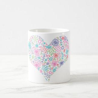 Floral Heart Artwork Mug