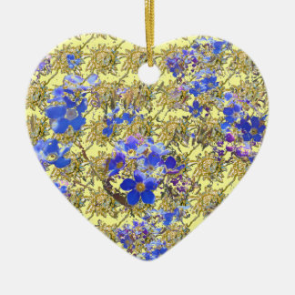 Floral Heart Christmas Tree Ornament