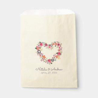Floral Heart Favour Bags