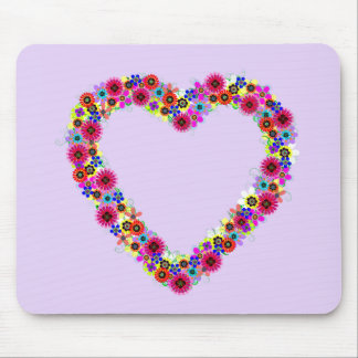 Floral Heart in Lavender Mousepad