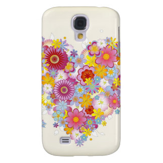 Floral Heart iPhone Case 3G Galaxy S4 Cover