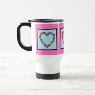 Floral Heart Coffee Mugs