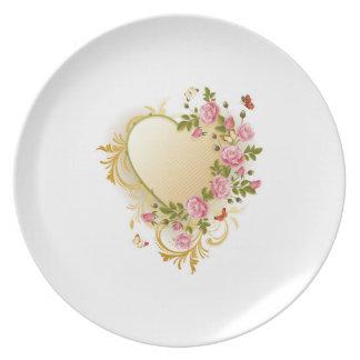 Floral Heart Plates Desgin