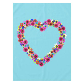 Floral Heart Tablecloth