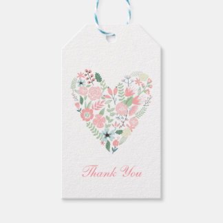 Floral Heart Wedding Gift Tags