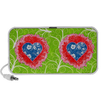 floral hearts doodle speakers