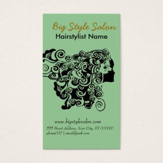 Floral Henna Hair Stylist Salon Spa Hairstylist Business Card