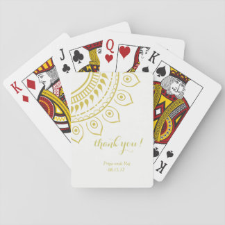 Floral Henna Mendhi Design Playing Cards Bridal