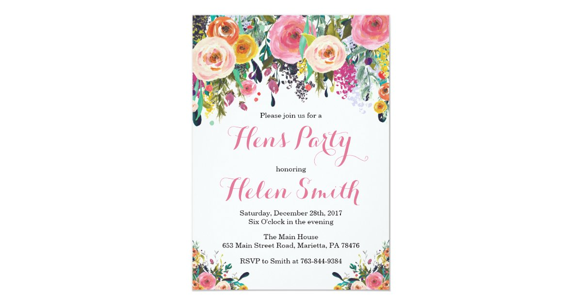 Charming Hens Party Invitations Templates Pictures Inspiration ...
