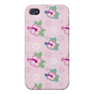 Floral Hibiscus Flowers Pink iPhone 4/4S Case
