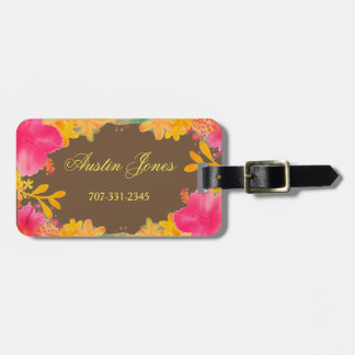 Floral Hibiscus Luggage Tags
