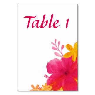 Floral Hibiscus Table Card