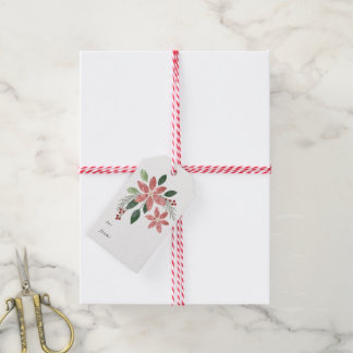 Floral Holiday Gift Tag