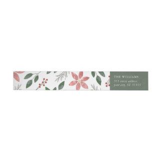 Floral Holiday - Return address label
