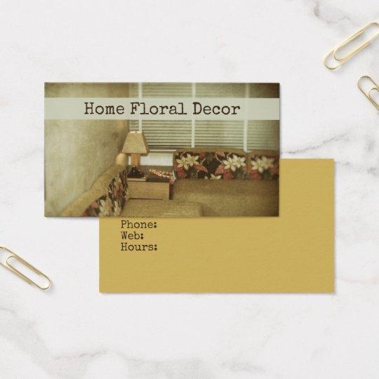 Floral Home Interior Designer Decor Furnishings Business