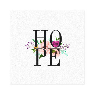 Floral HOPE Canvas Art
