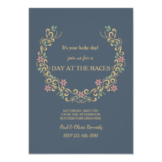 Floral Horseshoe Invitation