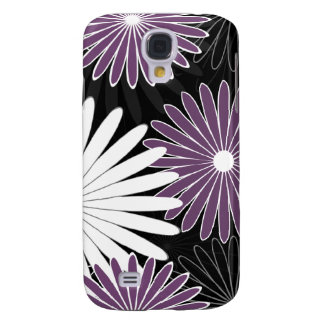 floral hot violet and purple galaxy s4 covers
