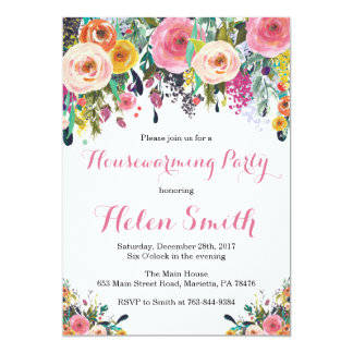 Floral Housewarming Party Invitations & Announcements | Zazzle.com.au