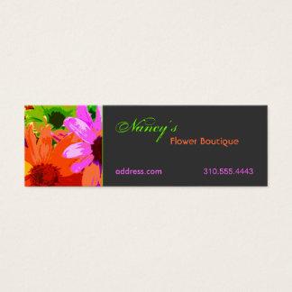 Floral ii mini business card